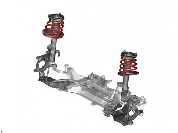 Замена пружины передней Toyota RAV 4 XA30 (фото 1)