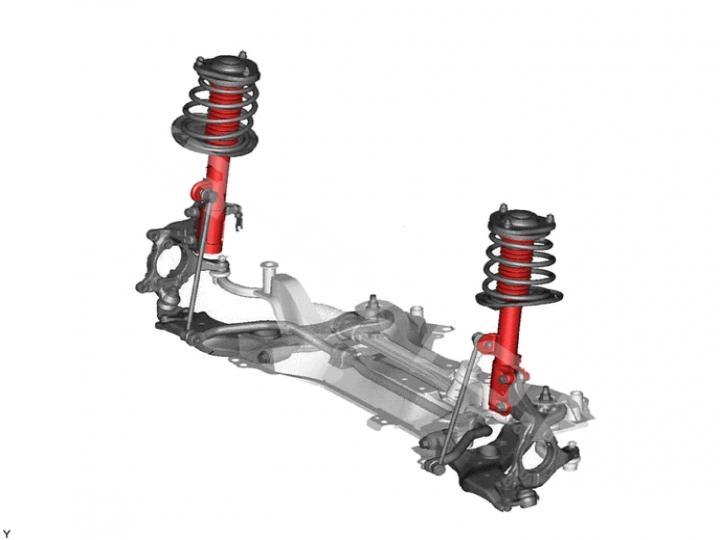 Замена переднего амортизатора Toyota RAV 4 XA40 (фото 1)